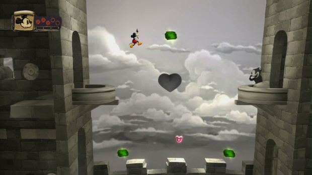 Epic Mickey 2D side-scrolling transition level screenshot