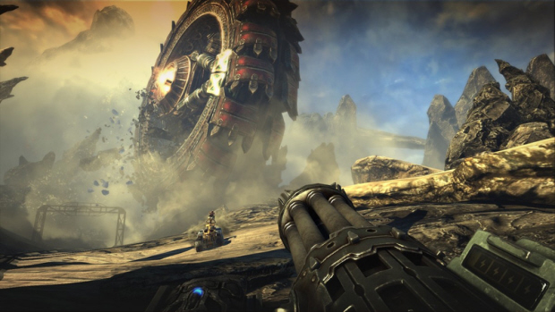 Bulletstorm rolling tire screenshot