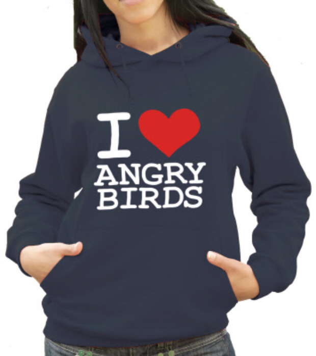 I Heart Angry Birds tshirt in time for Valentine's Day