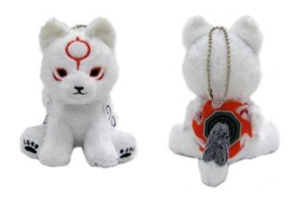 Okamiden keychain plush Capcom store pre-order bonus