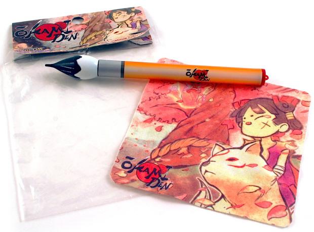 Okamiden paintbrush stylus GameStop pre-order bonus
