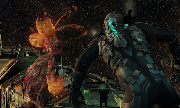 Isaac explores dead space in Dead Space 2