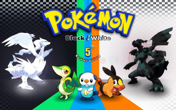 Pokemon Black and White colorful wallpaper