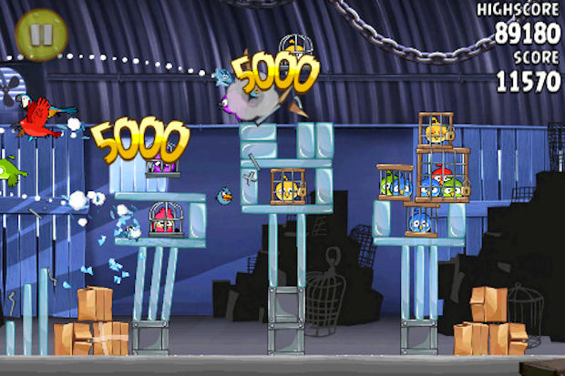 Angry Birds Rio walkthrough iPhone screenshot