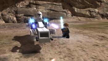 Vehicle gameplay in Lego Star Wars 3