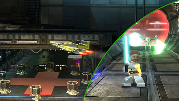 Lego Star Wars 3 vehicles gameplay screenshot