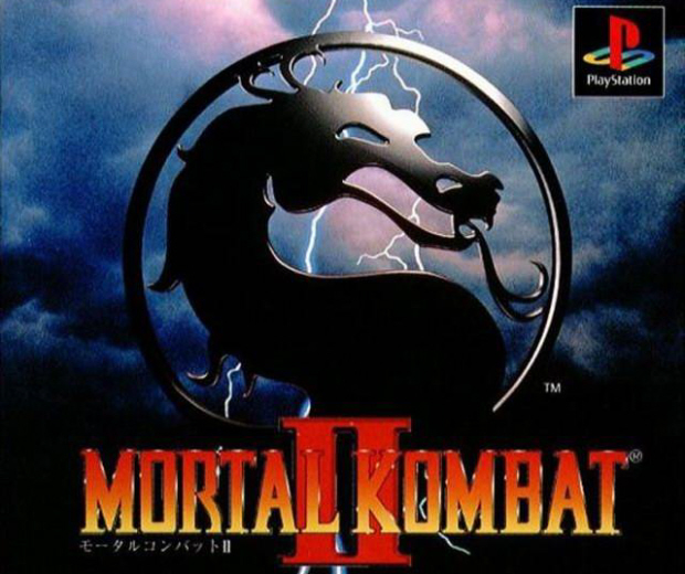 MK2 walkthrough artwork of the PS1 version logo