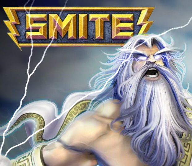 Artwork of Zeus for free-to-play online mythical god arena combat game Smite, a DOTA-type title from Hi-Res Studios
