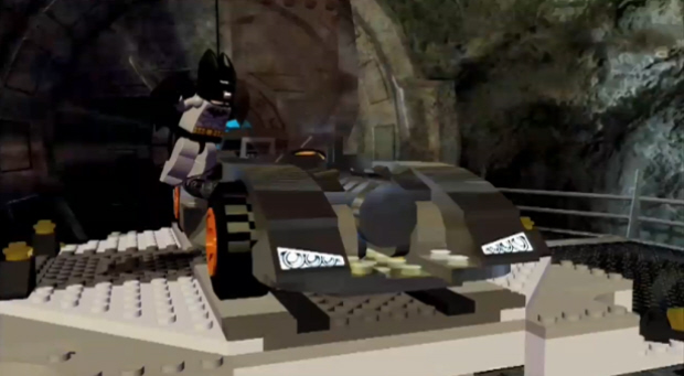 The Batmobile in Lego Batman