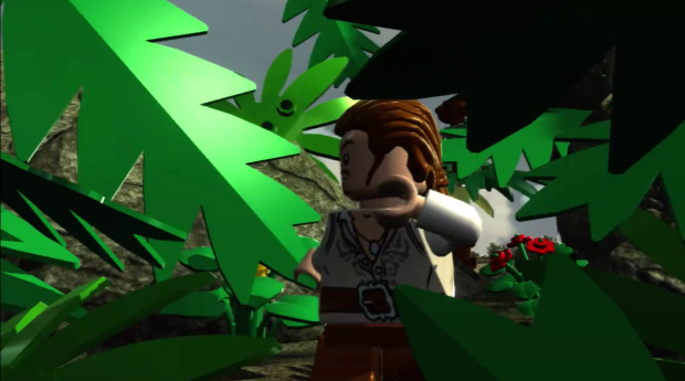 Lego Pirates of the Caribbean leaves of a tree block the way