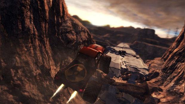 Duke Nukem Forever 4 wheel action screenshot