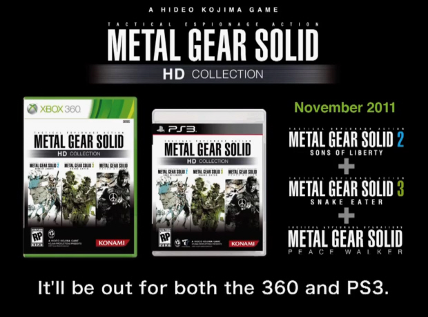 Metal Gear Solid HD Collection includes MGS2, MGS3 and MGS: Peace Walker for PS3 and Xbox 360