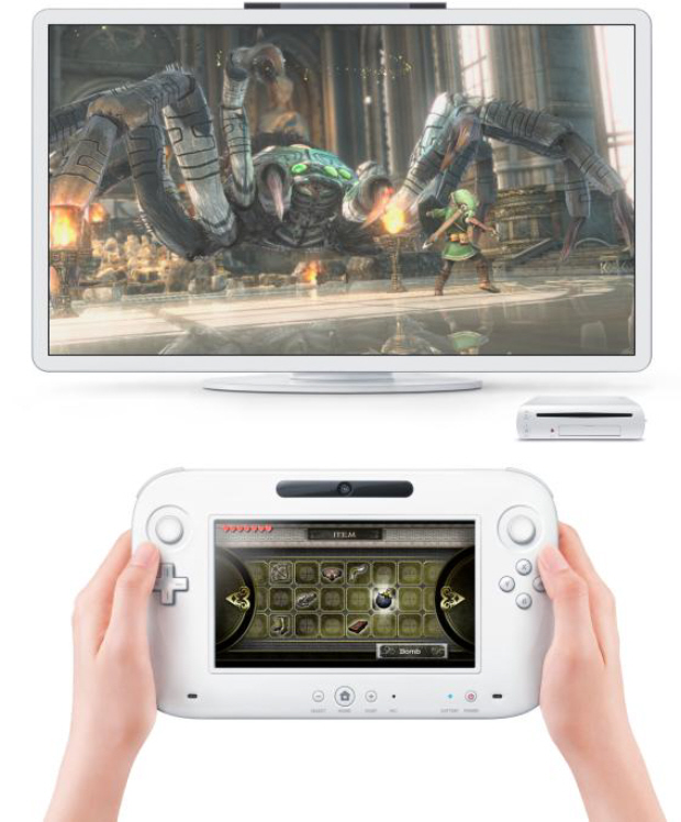 Nintendo Wii U console and controller