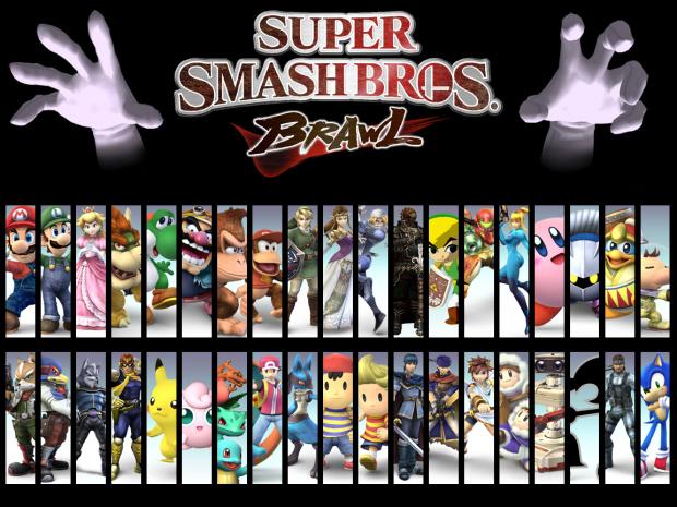 The full Super Smash Bros. Brawl roster wallpaper