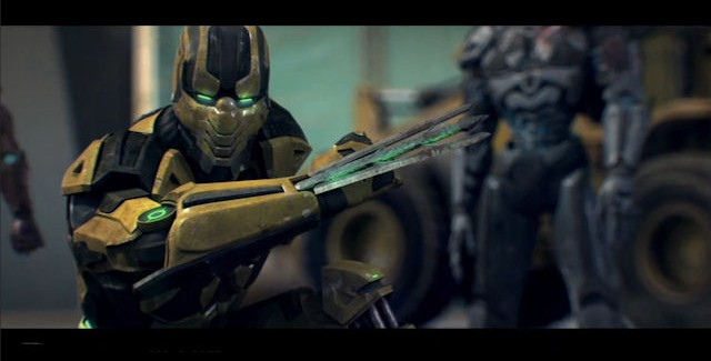 Cyrax showing his moves in Mortal Kombat Legacy