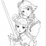 Soul Calibur 5 Leixia artwork with mom Xianghua