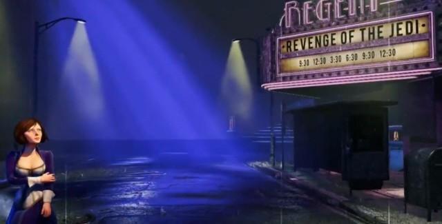 Bioshock Infinite Screenshot Shows Star Wars: Revenge of the Jedi Playing!