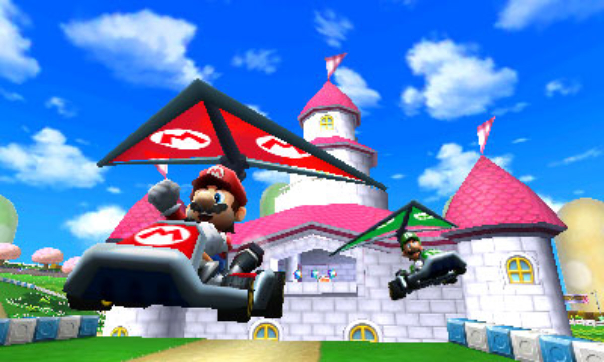 Mario Kart 7 Peach Castle Screenshot
