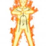Naruto Nine-Tails Chakra Mode Artwork