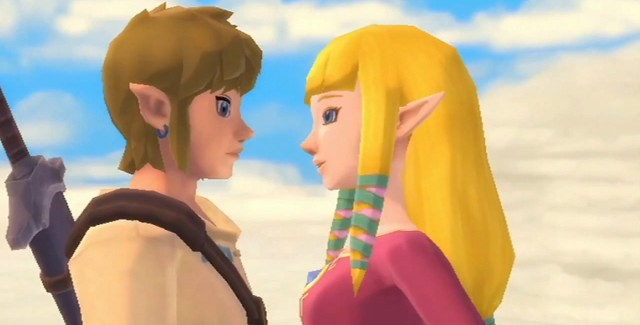 Zelda: Skyward Sword Link and Zelda In Love - K.I.S.S.I.N.G.