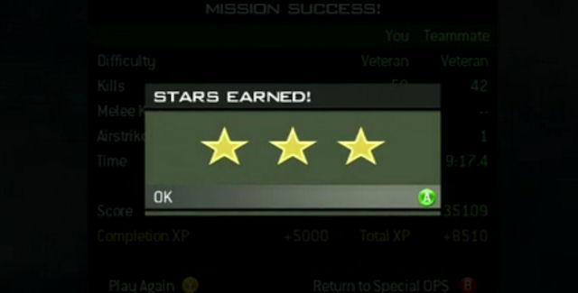 Modern Warfare 3 Spec Ops Stars screenshot