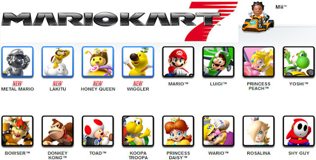 Mario Kart 7 Characters Roster To Unlock All