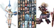 Soul Calibur 5 character select screen with Elysium and Pyrrha Omega unlocked