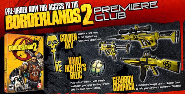 Borderlands 2 Pre-Order Bonus Overview