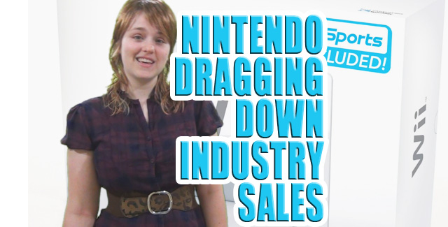 Nintendo hit as game industry sales down