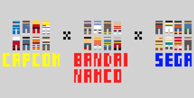 Sega x Capcom x Namco Bandai Logo