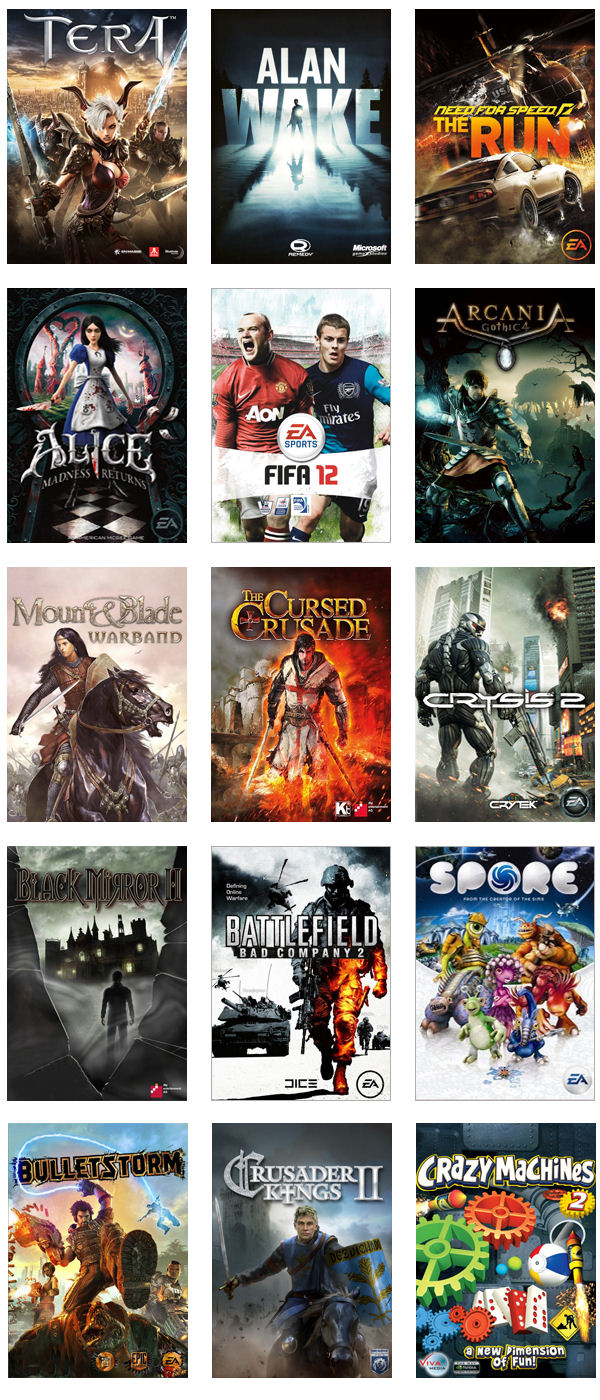 Gaikai Game Demo Thumbnails
