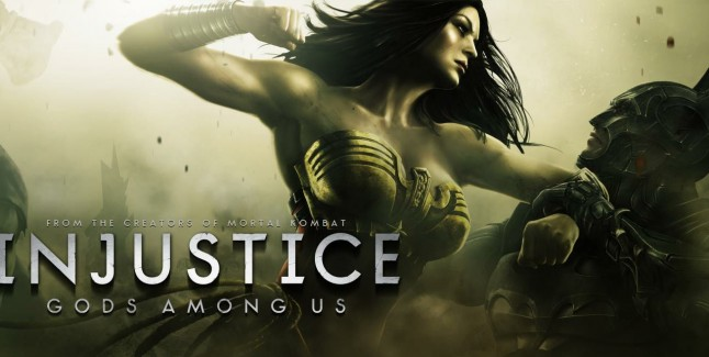 Injustice: Gods Among Us logo with Wonder Woman & Batman