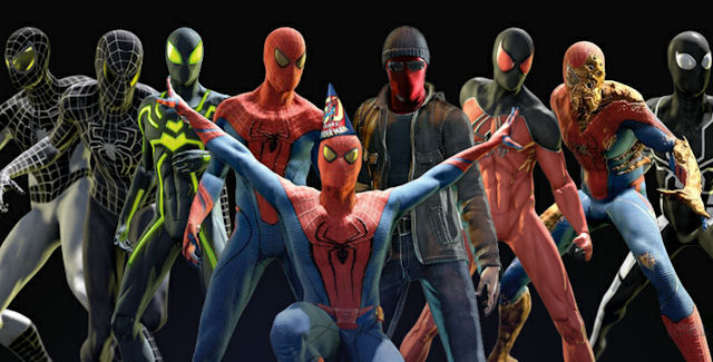 The Amazing Spider-Man 2012 Game Costumes