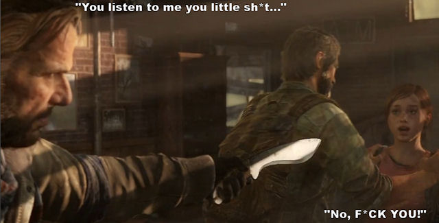 Ellie meets Bill in The Last of Us