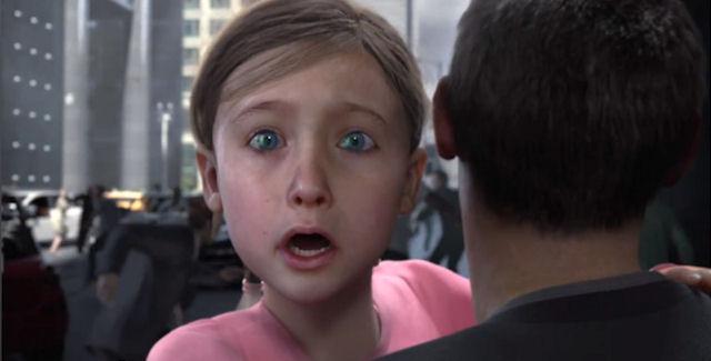 Death scares a little girl in Darksiders II