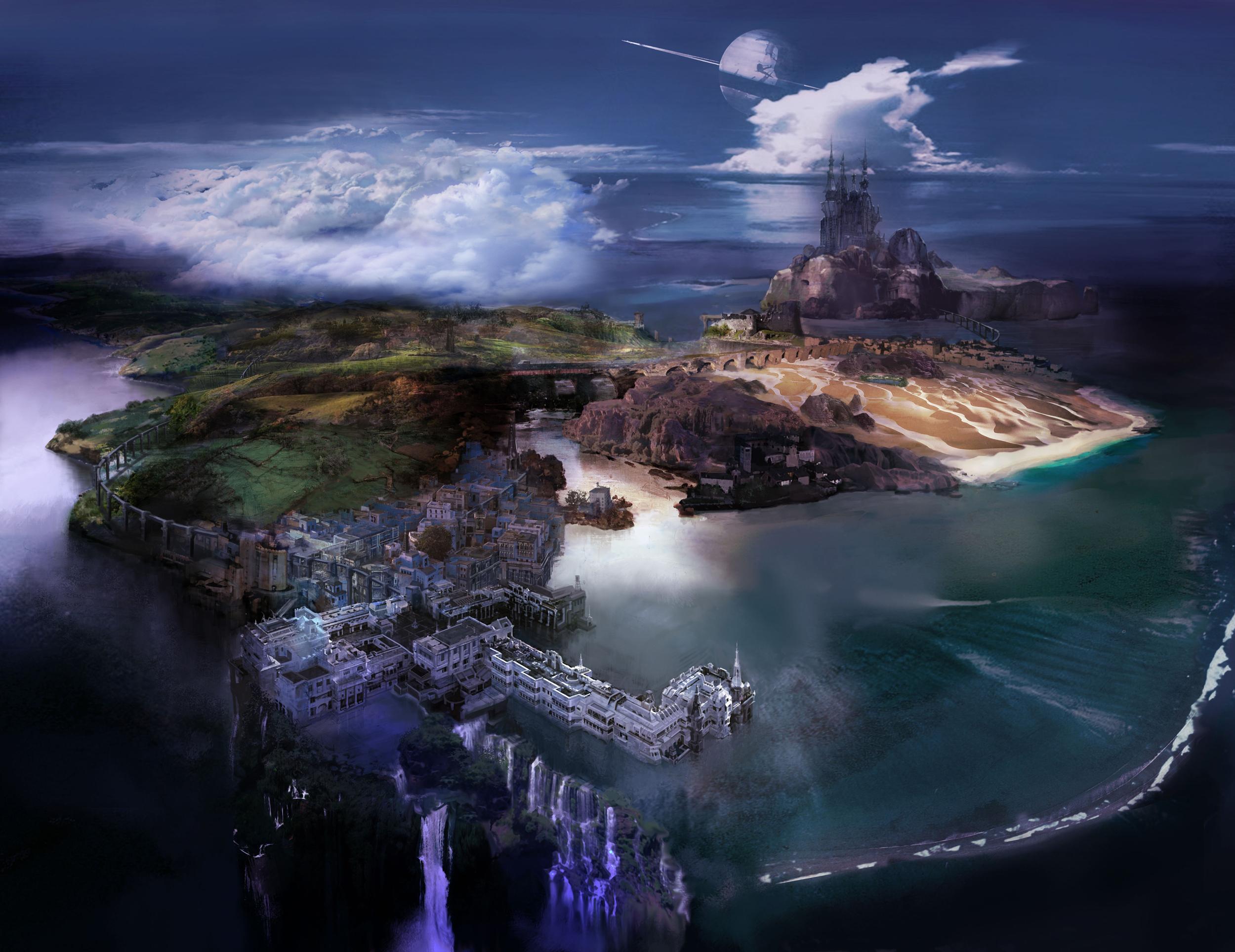 Lightning Returns: Final Fantasy XIII Navus Partus Islands Artwork