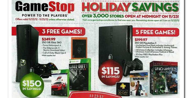 Black Friday 2012 Video Games Deals