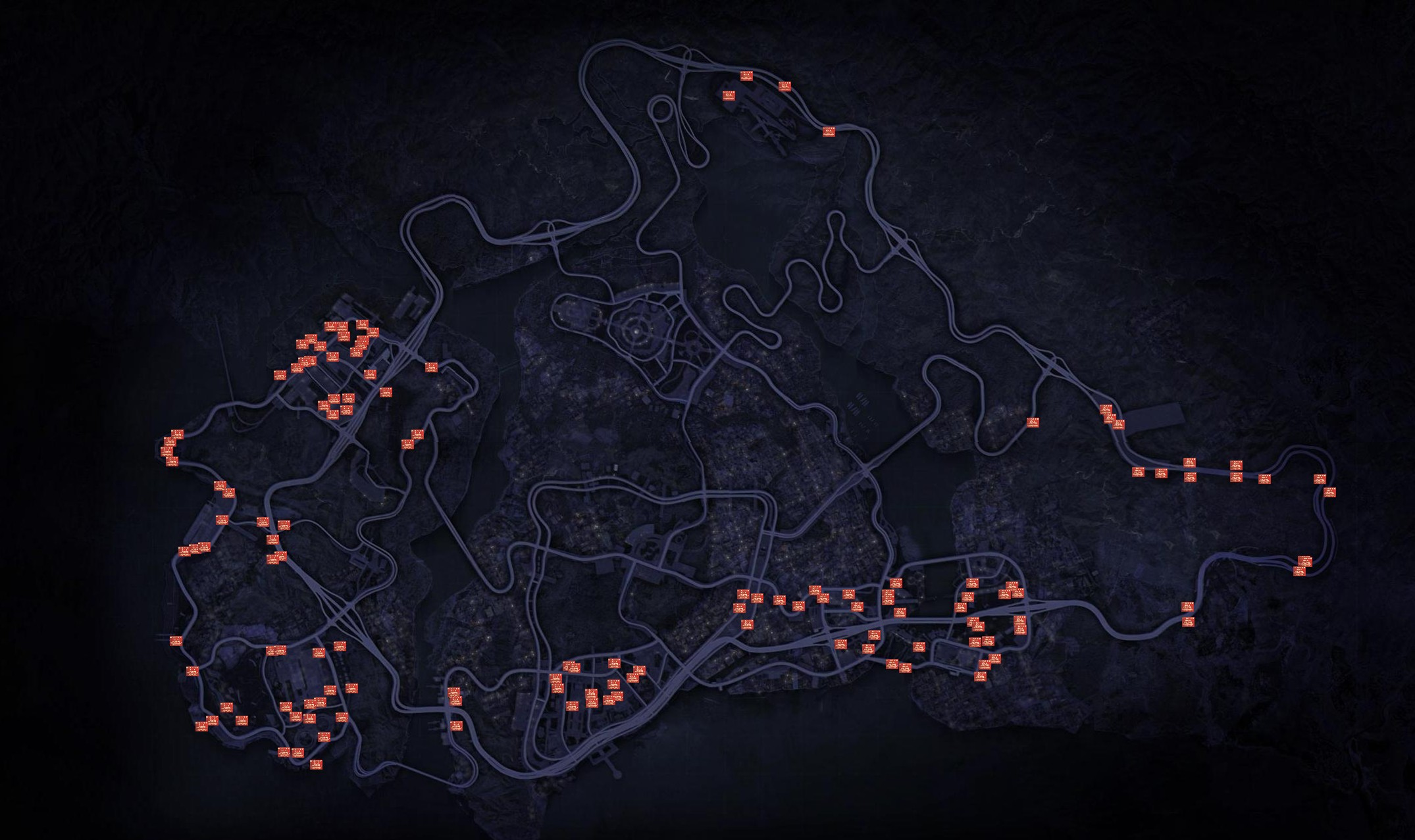 Need for Speed: Most Wanted 2012Security Gates Map
