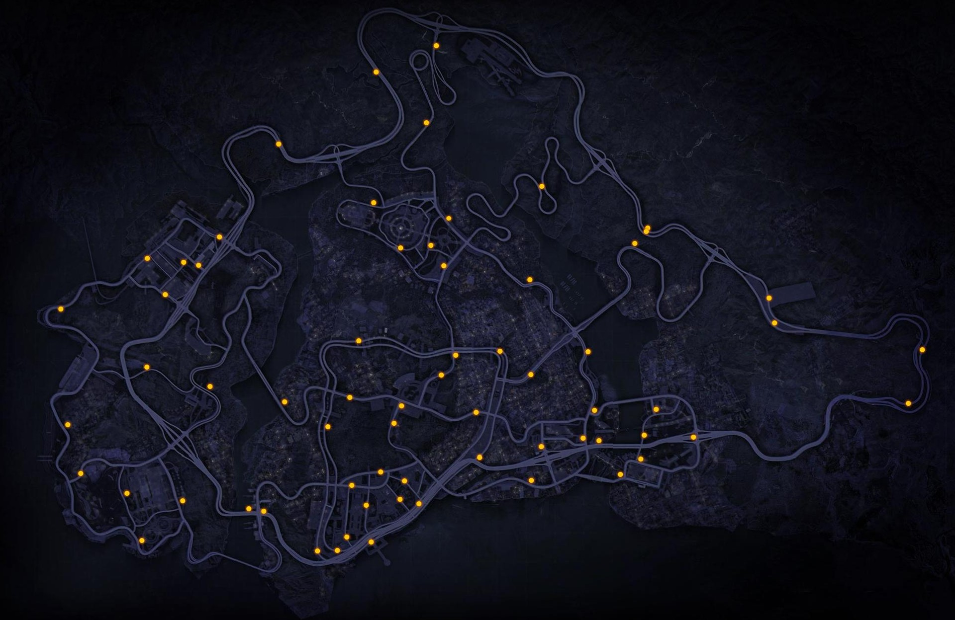 Need for Speed: Most Wanted 2012 Speed Cameras Map