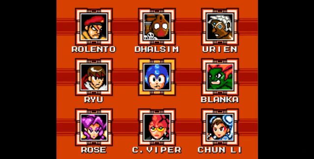 Street Fighter X Mega Man Characters