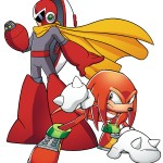 Sonic and Mega Man: When Worlds Collide Proto and Knuckles Artwork