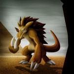 Pokemon 028 Sandslash Artwork
