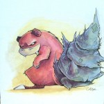 Pokemon 080 Slowbro Artwork
