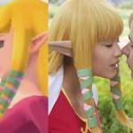 Model Zelda and Link Cosplay