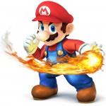 Super Smash Bros Wii U and 3DS Mario Artwork