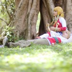 Video Game Zelda and Link Cosplay