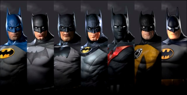 Batman Arkham Origins Costumes