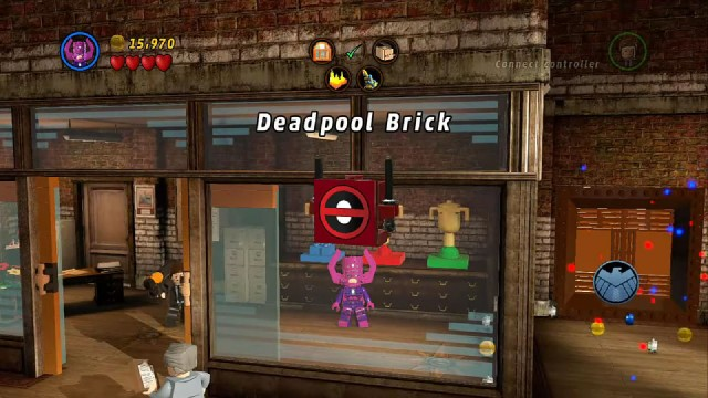 Lego Marvel Super Heroes Red Brick 2: Studs x4 Location