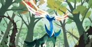 Xerneas Pokemon X and Y artwork