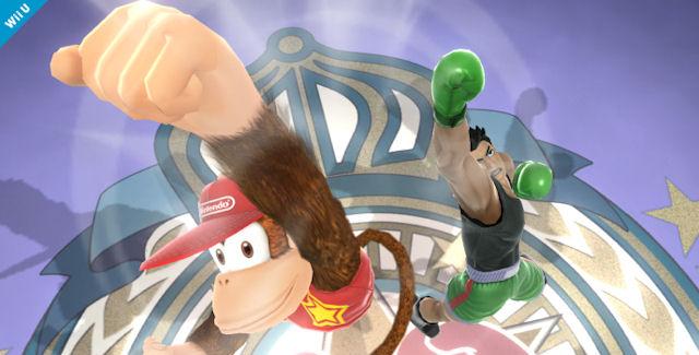 Diddy Kong & Little Mac in Super Smash Bros Wii U & 3DS